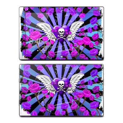 Microsoft Surface Pro Skin - Skull & Roses Purple