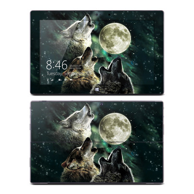 Microsoft Surface Pro Skin - Three Wolf Moon
