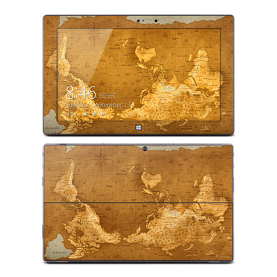 Microsoft Surface Pro Skin - Upside Down Map