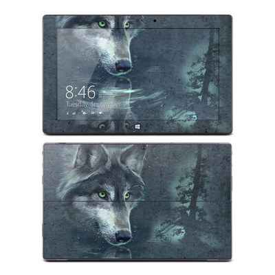 Microsoft Surface Pro Skin - Wolf Reflection