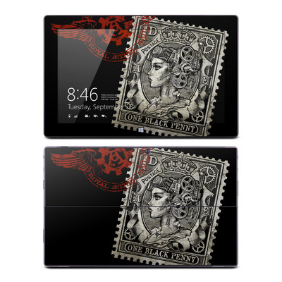 Microsoft Surface RT Skin - Black Penny