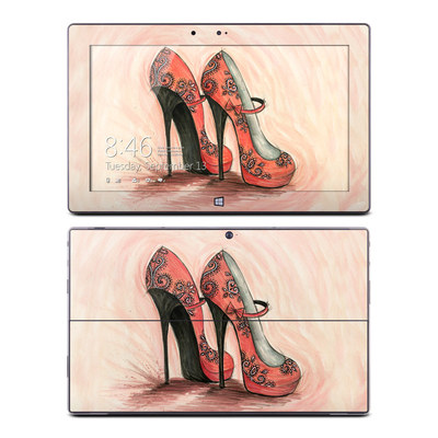 Microsoft Surface RT Skin - Coral Shoes