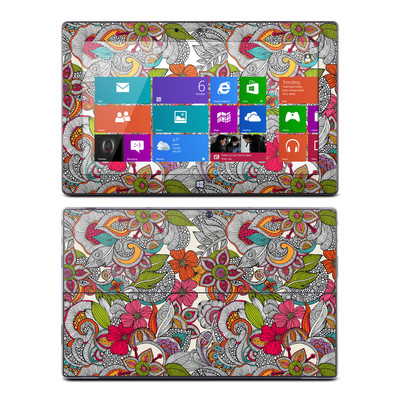 Microsoft Surface RT Skin - Doodles Color