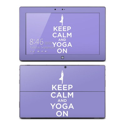 Microsoft Surface RT Skin - Keep Calm - Yoga
