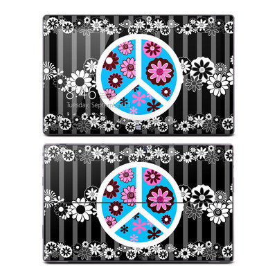 Microsoft Surface RT Skin - Peace Flowers Black