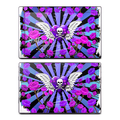 Microsoft Surface RT Skin - Skull & Roses Purple