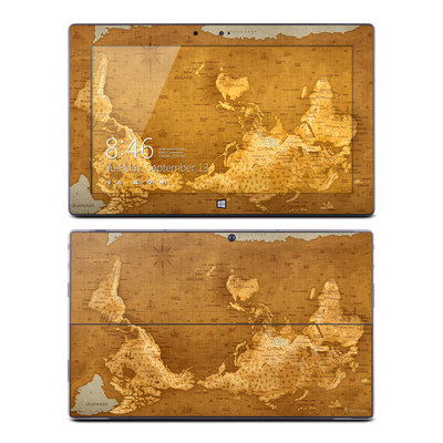Microsoft Surface RT Skin - Upside Down Map