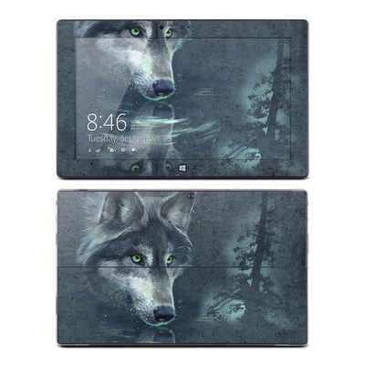 Microsoft Surface RT Skin - Wolf Reflection