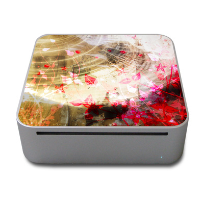 Mac Mini Skin - Woodflower