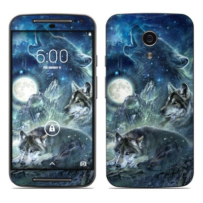 Motorola Moto G Second Gen Skin - Bark At The Moon