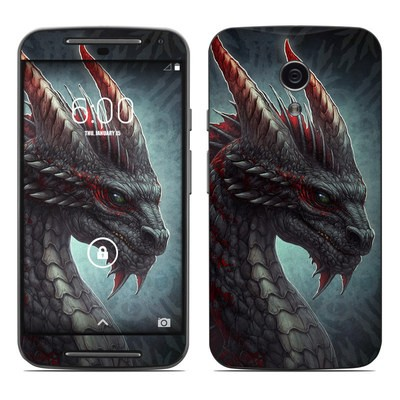 Motorola Moto G Second Gen Skin - Black Dragon
