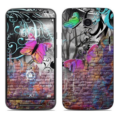 Motorola Moto G Second Gen Skin - Butterfly Wall