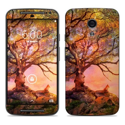 Motorola Moto G Second Gen Skin - Fox Sunset