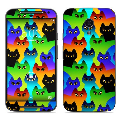 Motorola Moto G Second Gen Skin - Rainbow Cats