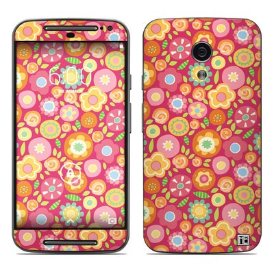 Motorola Moto G Second Gen Skin - Flowers Squished