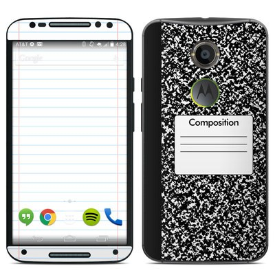 Motorola Moto X 2014 Skin - Composition Notebook