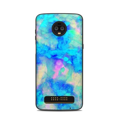 Motorola Moto Z3 Skin - Electrify Ice Blue