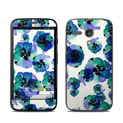 Motorola Moto G Skin - Blue Eye Flowers