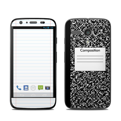 Motorola Moto G Skin - Composition Notebook