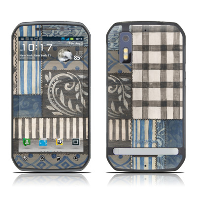 Motorola Photon Skin - Country Chic Blue
