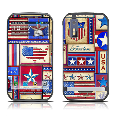 Motorola Photon Skin - Flag Patchwork