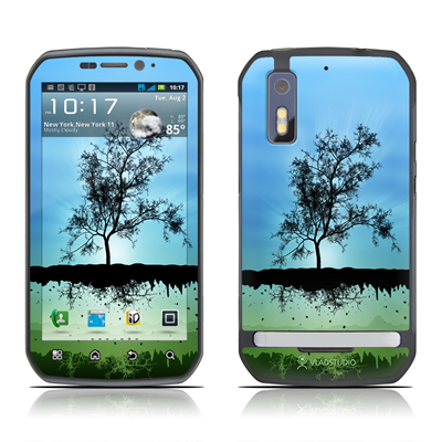 Motorola Photon Skin - Flying Tree Blue