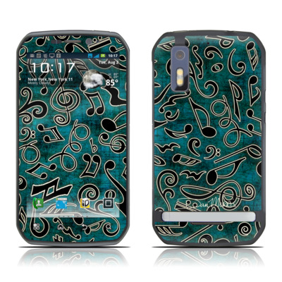 Motorola Photon Skin - Music Notes