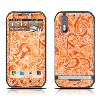 Motorola Photon Skin - Paisley In Orange