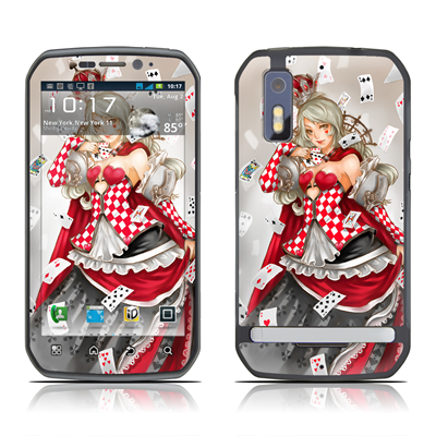 Motorola Photon Skin - Queen Of Cards
