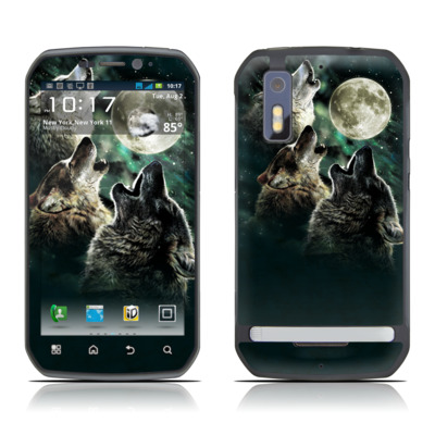 Motorola Photon Skin - Three Wolf Moon