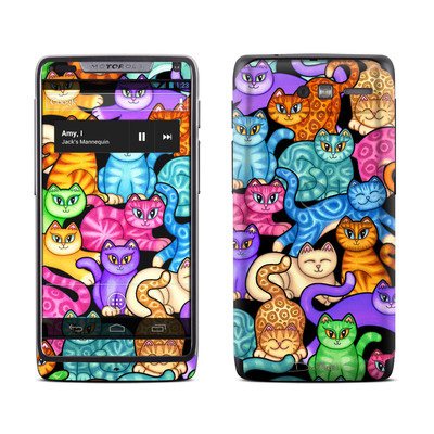 Motorola Razr M Skin - Colorful Kittens