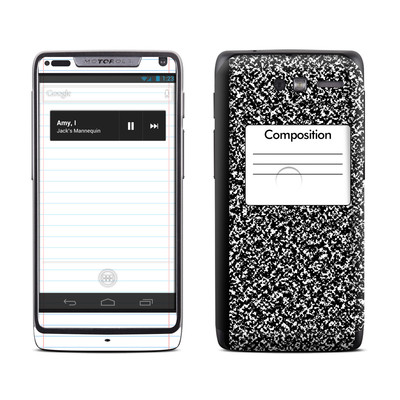 Motorola Razr M Skin - Composition Notebook