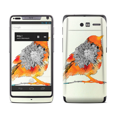 Motorola Razr M Skin - Orange Bird