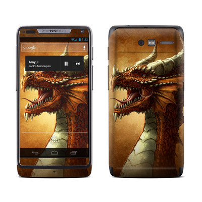 Motorola Razr M Skin - Red Dragon