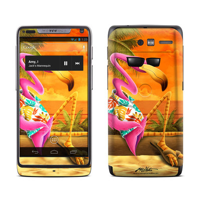 Motorola Razr M Skin - Sunset Flamingo