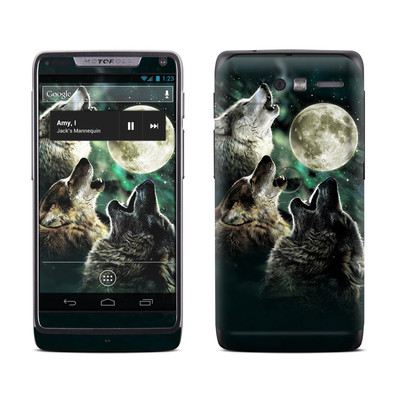 Motorola Razr M Skin - Three Wolf Moon
