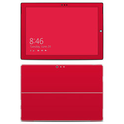 Microsoft Surface Pro 3 Skin - Solid State Red