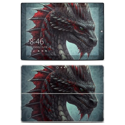 Microsoft Surface Pro 3 Skin - Black Dragon