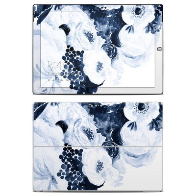 Microsoft Surface Pro 3 Skin - Blue Blooms