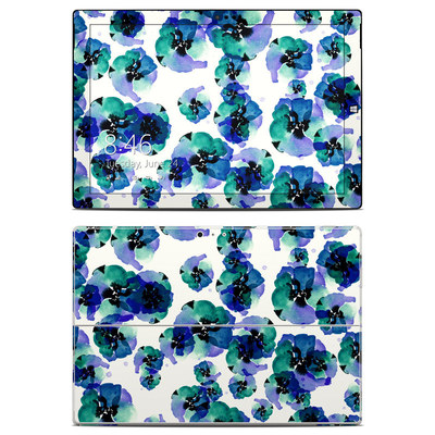 Microsoft Surface Pro 3 Skin - Blue Eye Flowers