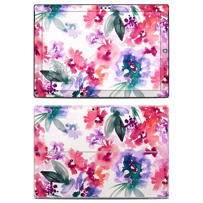 Microsoft Surface Pro 3 Skin - Blurred Flowers