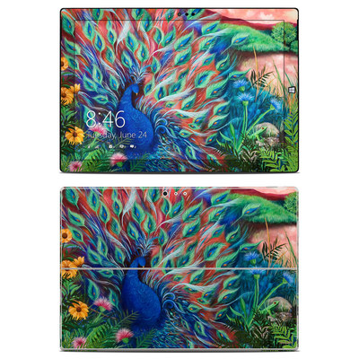 Microsoft Surface Pro 3 Skin - Coral Peacock