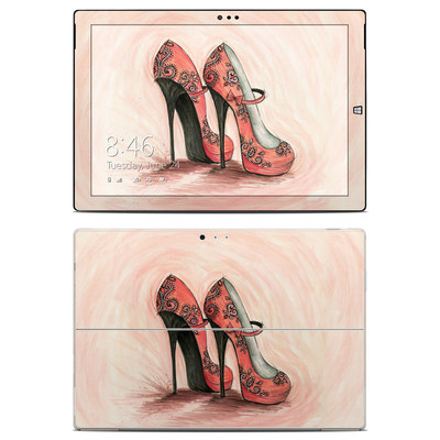 Microsoft Surface Pro 3 Skin - Coral Shoes