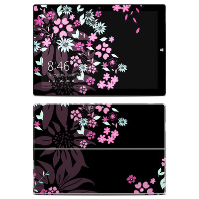 Microsoft Surface Pro 3 Skin - Dark Flowers