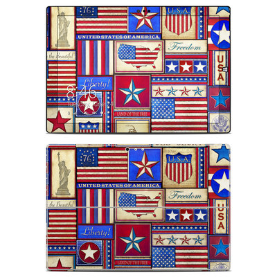 Microsoft Surface Pro 3 Skin - Flag Patchwork