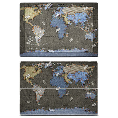Microsoft Surface Pro 3 Skin - Jean Map