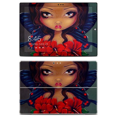Microsoft Surface Pro 3 Skin - Red Hibiscus Fairy