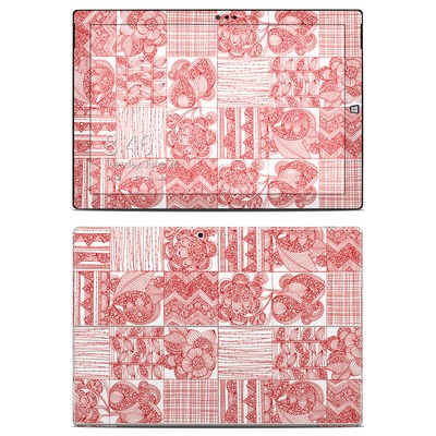 Microsoft Surface Pro 3 Skin - Red Quilt