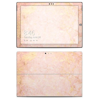 Microsoft Surface Pro 3 Skin - Rose Gold Marble