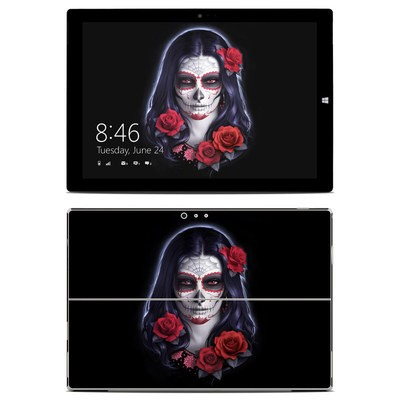 Microsoft Surface Pro 3 Skin - Sugar Skull Rose